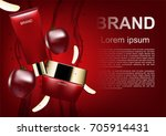 beauty cosmetic ads  red... | Shutterstock .eps vector #705914431