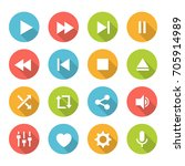 media player buttons.... | Shutterstock .eps vector #705914989