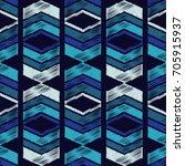 ethnic boho seamless pattern.... | Shutterstock .eps vector #705915937