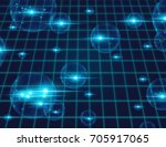 digital global network internet ... | Shutterstock . vector #705917065