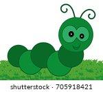 green centipede profile | Shutterstock .eps vector #705918421