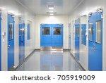 clean room door for laboratory... | Shutterstock . vector #705919009