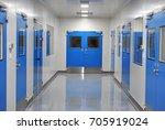 clean room door for laboratory... | Shutterstock . vector #705919024