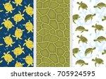 turtle pattern. seamless vector ...   Shutterstock .eps vector #705924595