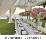 wedding set up. | Shutterstock . vector #705930937