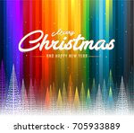 merry christmas colorful... | Shutterstock .eps vector #705933889