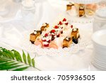 different kinds of baked sweets ... | Shutterstock . vector #705936505