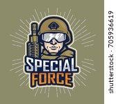 soldier special force vector... | Shutterstock .eps vector #705936619