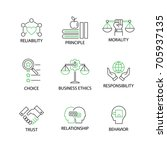 modern flat thin line icon set... | Shutterstock .eps vector #705937135