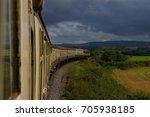 on the west somerset railway  ... | Shutterstock . vector #705938185