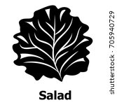 salad icon. simple illustration ... | Shutterstock .eps vector #705940729