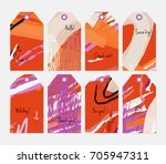 hand drawn creative tags.... | Shutterstock .eps vector #705947311