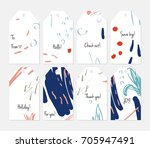 hand drawn creative tags.... | Shutterstock .eps vector #705947491