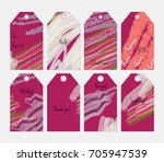 hand drawn creative tags.... | Shutterstock .eps vector #705947539