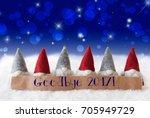 gnomes  blue background  bokeh  ...   Shutterstock . vector #705949729