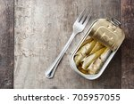 sardines can preserve isolated... | Shutterstock . vector #705957055