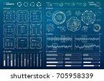 vector hud elements set for... | Shutterstock .eps vector #705958339