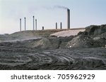 fly ash dump and industrial... | Shutterstock . vector #705962929