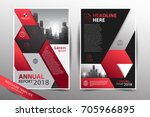 annual report 2018 leaflet... | Shutterstock .eps vector #705966895