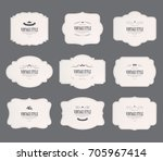 Stock vector set of vintage labels old fashion banner illustration vector 705967414