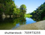 swimming hole in colombia | Shutterstock . vector #705973255