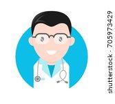 flat cartoon illustration icon... | Shutterstock . vector #705973429