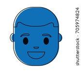 cartoon man face icon | Shutterstock .eps vector #705974824