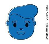 cartoon man face icon | Shutterstock .eps vector #705974851
