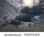 cloudy weather | Shutterstock . vector #705979195