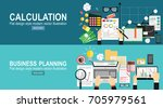 tax calculation  budget... | Shutterstock .eps vector #705979561