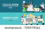 tax calculation  budget... | Shutterstock .eps vector #705979561