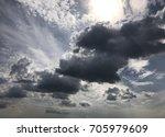 cloudy weather | Shutterstock . vector #705979609