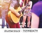 artist performing on fringe... | Shutterstock . vector #705980479