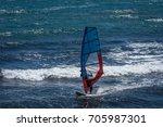 windsurfers in gran canaria... | Shutterstock . vector #705987301