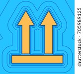 logistic sign of arrows. vector.... | Shutterstock .eps vector #705989125