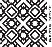 black and white geometric... | Shutterstock .eps vector #705991459