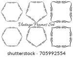 set of vector vintage luxury... | Shutterstock .eps vector #705992554