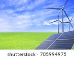 solar and wind power create...   Shutterstock . vector #705994975