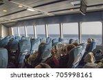 fred olsen ferryboat indoor... | Shutterstock . vector #705998161