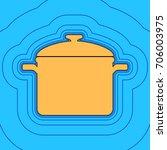 cooking pan sign. vector. sand... | Shutterstock .eps vector #706003975