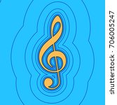music violin clef sign. g clef. ...   Shutterstock .eps vector #706005247