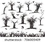 happy halloween magic... | Shutterstock .eps vector #706005409