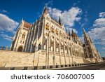 parliament in budapest  hungary | Shutterstock . vector #706007005