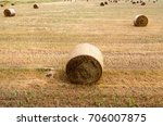 A Stack Of Straw Lying On A...