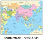 south asia political map....   Shutterstock .eps vector #706016734