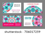 embroidery style colorful... | Shutterstock .eps vector #706017259