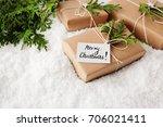christmas gift  christmas... | Shutterstock . vector #706021411