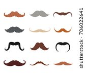 mustache vector set. men... | Shutterstock .eps vector #706022641