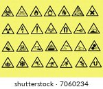 vector illustrations of warning ... | Shutterstock . vector #7060234