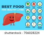 best food for strong liver.... | Shutterstock . vector #706028224